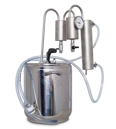 5L Destilátor, Palírna, Lihovarník, Vinopalník, chlazení, 2x osazovač