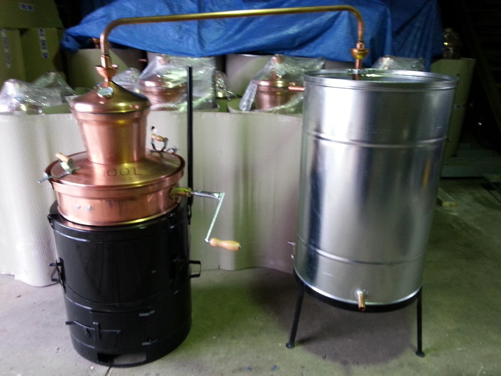 měděné palírny KAZAN o objemu 100 litrů