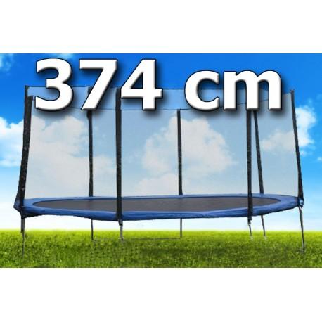 TRAMPOLÍNA s ochrannou sítí 12ft/ 374 cm + ŽEBŘÍK kvalita !