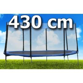 TRAMPOLÍNA s ochrannou sítí 14ft/ 435 cm + ŽEBŘÍK