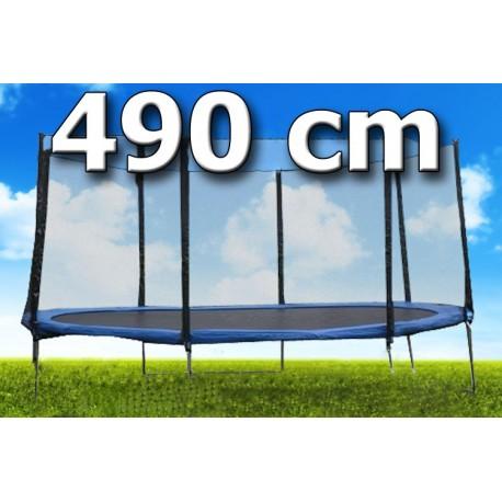 TRAMPOLÍNA s ochrannou sítí 16ft/ 490 cm ŽEBŘÍK