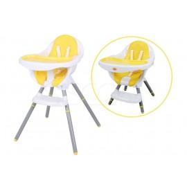 Dětská jídelní židlička BABY MAXI 2v1 yellow