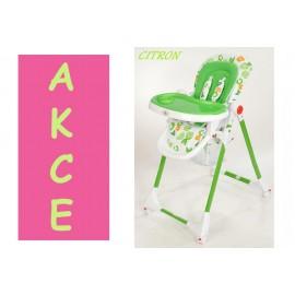 Dětská jídelní židlička MEDIUM kinder play CITRON