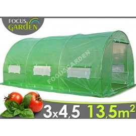 Zahradní tunelový fóliovník FOCUS GARDEN 3x4,5m 13,5 m2