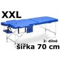 Masážní Lehátko 2- dílné Hliníkové XXL - 70cm