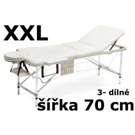 Masážní Lehátko 3- dílné Hliníkové XXL - 70cm