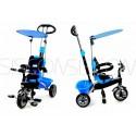Dětská tříkolka kočárek 2v1 PARTY BRIKE blue