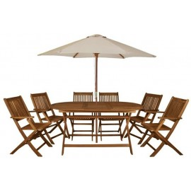 Zahradní sestava 6 židlí a stolu z akácie