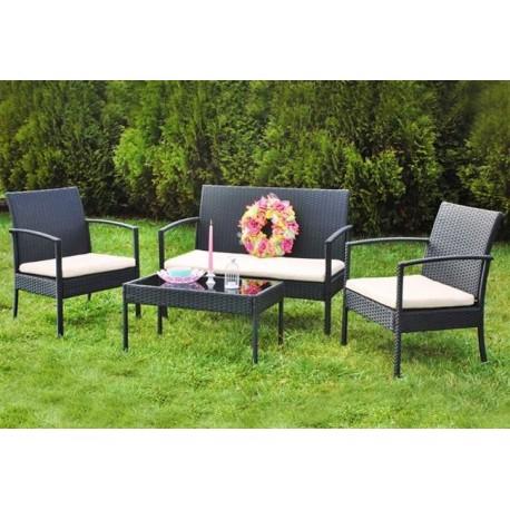 Zahradní ratanový nábytek- sedací souprava GRAFIT