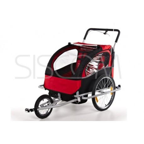Přívesný vozík za kolo pro 2 osoby  JOGGER Vozik Kočárek